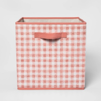 "13"" Fabric Gingham Storage Bin - Pillowfort™"
