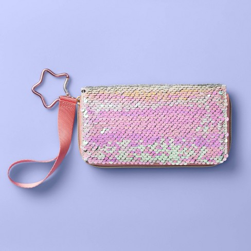 Girls' Sequin Wallet - More Than Magic™ Pink - image 1 of 2