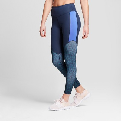 a6eaada21dc91 Women's Performance 7/8 Color Block High-Waisted Leggings - JoyLab™ Navy  Print XXL : Target