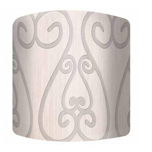 """PTM Images 10-0182 Soft Iron 9"""" Tall x 12"""" Wide Cylinder Fabric Lamp Shade - image 1 of 1"""