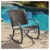 Gracie's Wicker Patio Rocking Chair - Brown - Christopher Knight Home - image 2 of 4