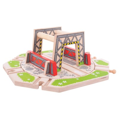 Bigjigs Rail Industrial Turntable Wooden Railway Train Set Accessory