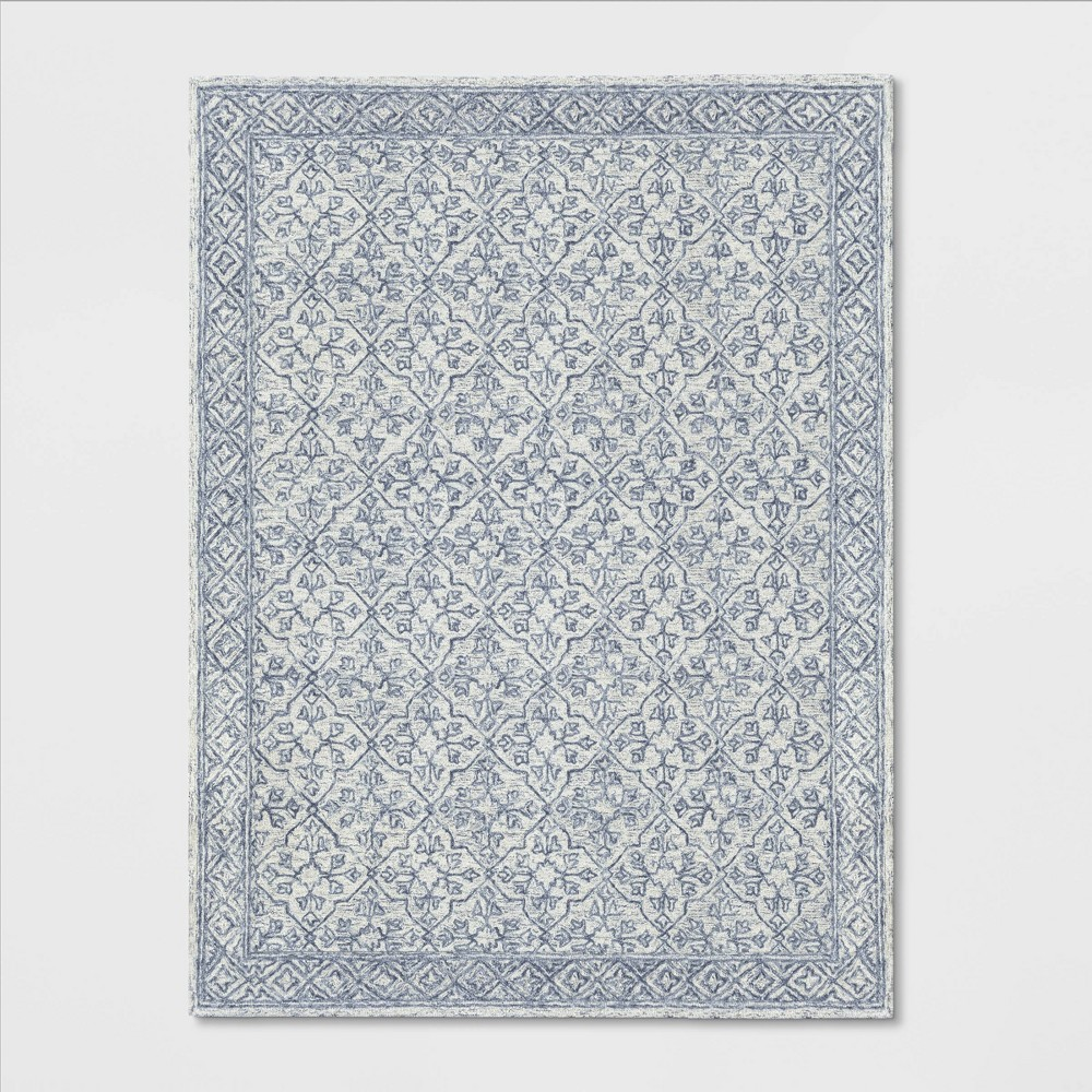 9'X12' Argyle Tufted Area Rug Gray - Threshold was $449.99 now $224.99 (50.0% off)