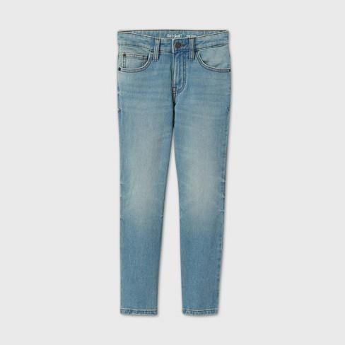 Boys' Super Stretch Slim Fit Jeans - Cat & Jack™ Light Blue - image 1 of 2