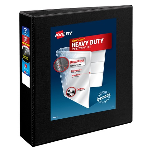"2"" 3 Ring Binder Heavy Duty Black - Avery - image 1 of 1"