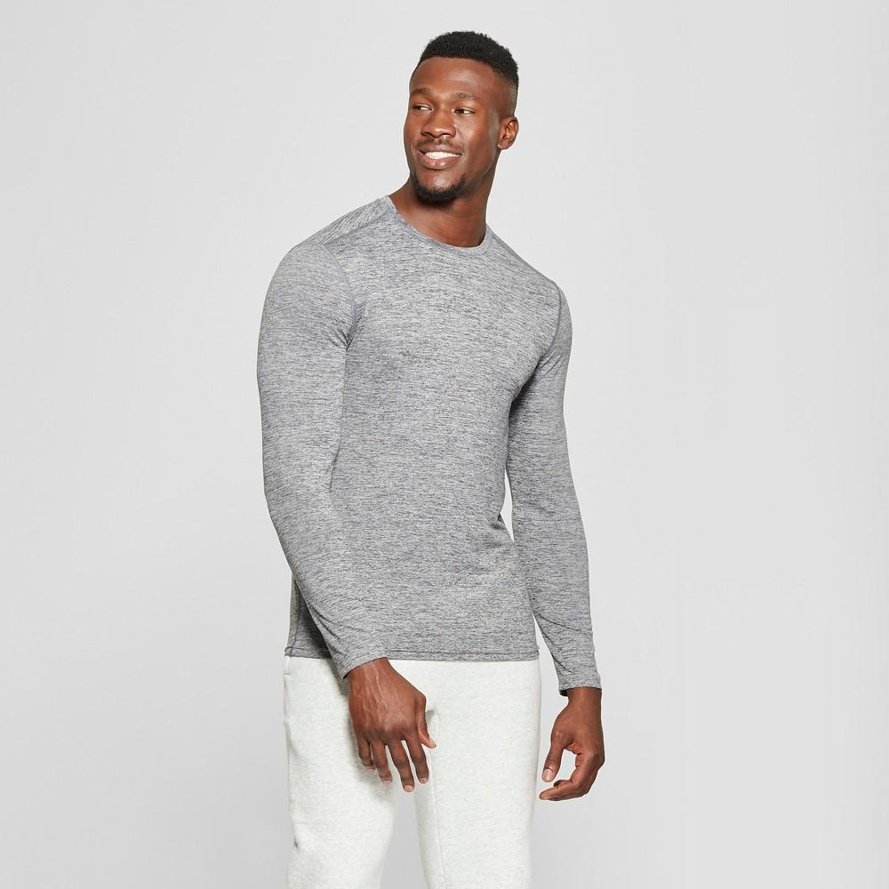 Men's Long Sleeve Tech T-Shirt - C9 Champion Black Heather Xxl