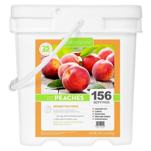 Lindon Farms Emergency Food 156-Serving Freeze Dried Peaches Food Storage Pail - image 1 of 2