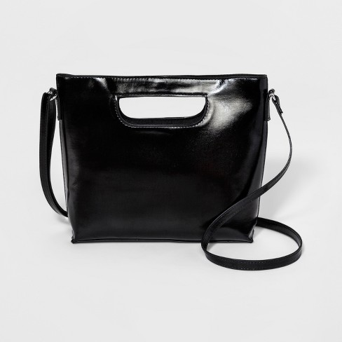 Women's Mini Cut Out Crossbody Bag - T-Shirt & Jeans Black - image 1 of 3