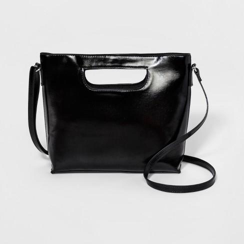 Women s Mini Cut Out Crossbody Bag - T-Shirt   Jeans Black   Target 31cd02dfd4818