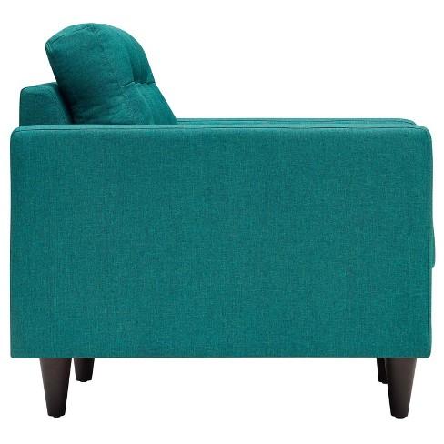Empress Upholstered Armchair Teal Modway Target