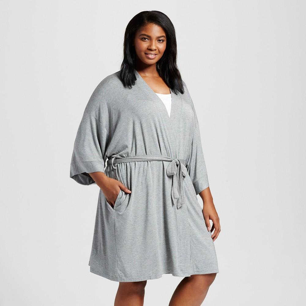 Women's Plus Size robe - Medium Heather Gray 1X