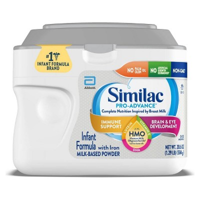 Similac Pro-Advance Non-GMO Infant Formula with Iron Powder - 20.6oz