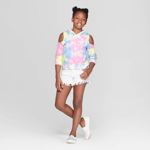 c43b93e9ab8784 Girls  Long Sleeve Cold Shoulder Hoodie - art class™. Shop all Art Class