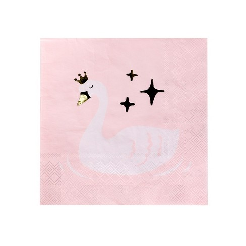 20ct Swan Princess Lunch Napkin - Spritz™ - image 1 of 1