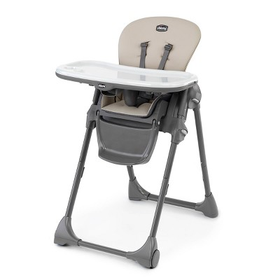 Chicco Polly Compact Fold Easy-Clean High Chair - Taupe