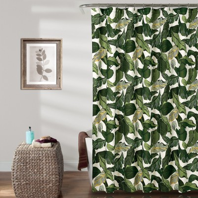 Tropical Paradise Shower Curtain 72x72 Green - Lush Decor