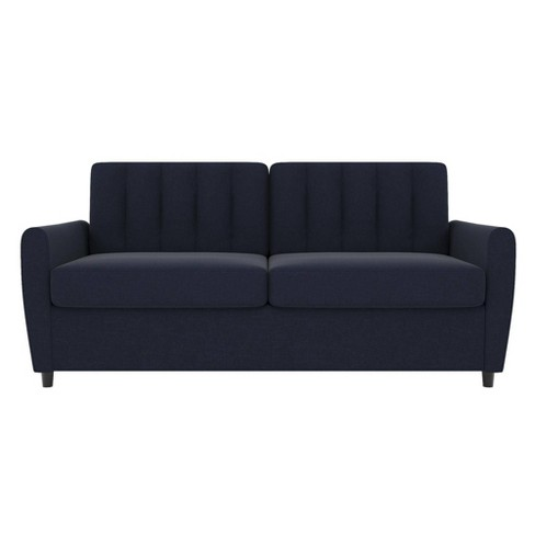 Prime Queen Brittany Sleeper Sofa With Memory Foam Mattress Blue Novogratz Machost Co Dining Chair Design Ideas Machostcouk