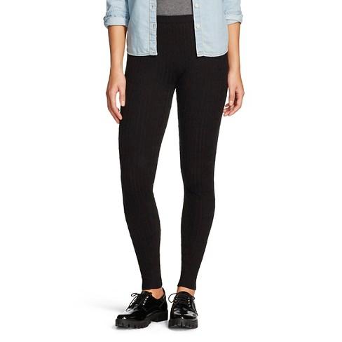 1eba6dec3d26e Women's Cable Sweater Leggings Black XL - K By Kersh : Target
