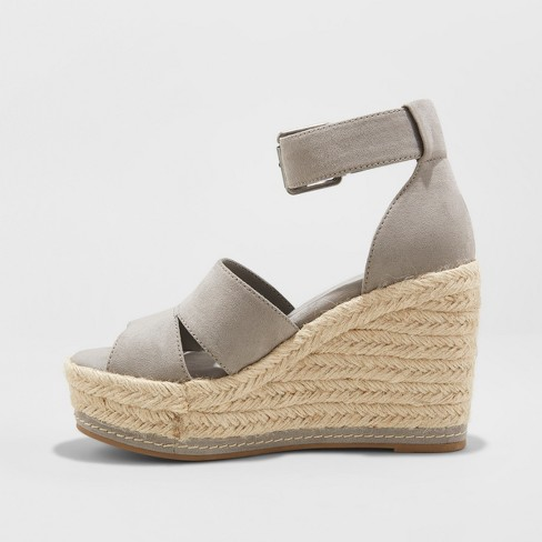e36bdc5a1dc Women s Caroline Microsuede Ankle Strap Espadrille Wedge - Universal Thread™