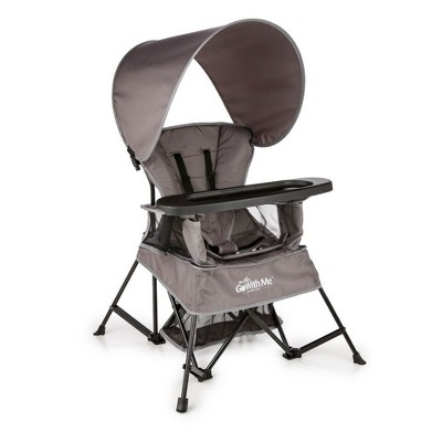 Baby Delight Go With Me Venture Deluxe Portable High Chair - Gray