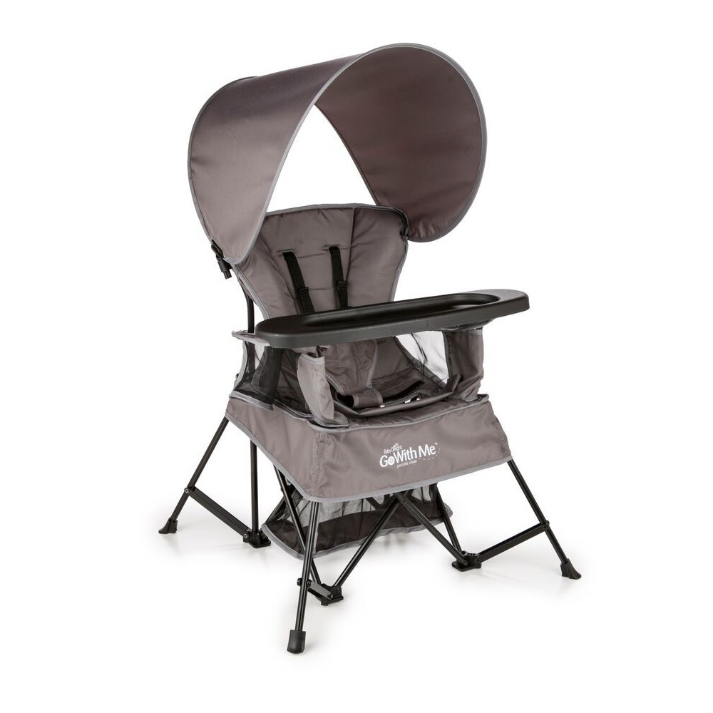 Image of Baby Delight Go With Me Venture Deluxe Portable High Chair - Gray