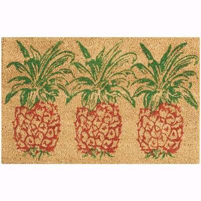 "Waverly Greetings ""Pineapple"" Aqua Doormat"