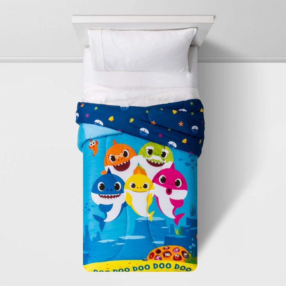 Image of Pinkfong Baby Shark Twin Shark City Comforter