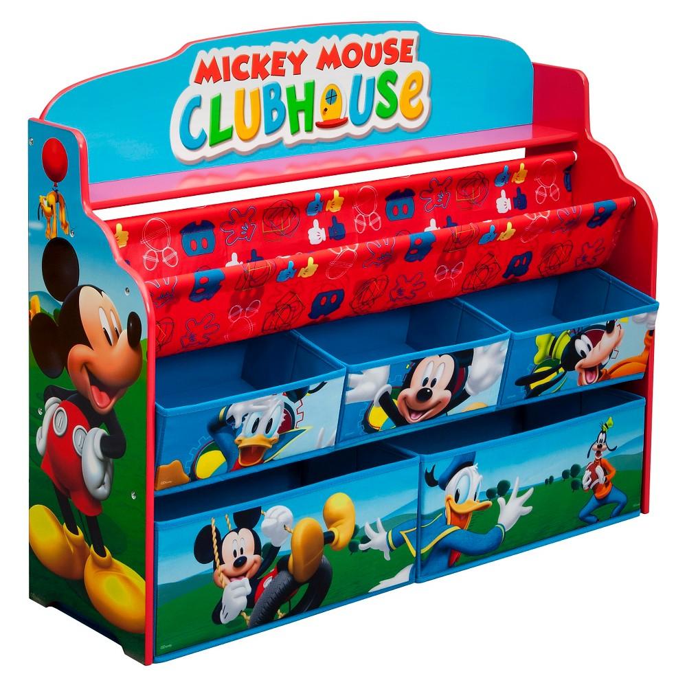 Deluxe Book & Toy Organizer Disney Mickey Mouse - Delta Children, Multi-Colored