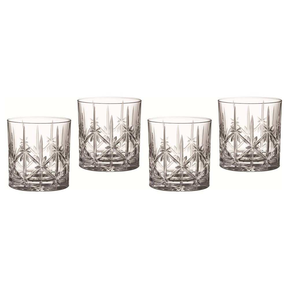 Image of Marquis by Waterford Sparkle Crystal Double Old-Fashioned Glass 18oz - Set of 4, Clear