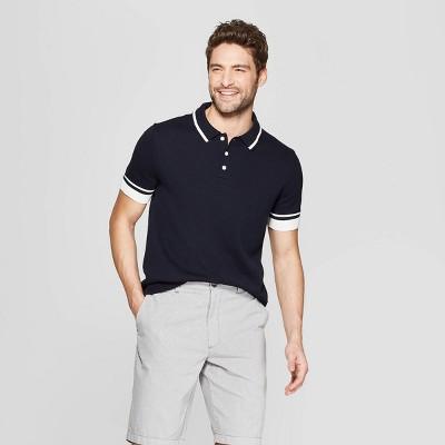 c1580012deac Men s Standard Fit Short Sleeve Polo Shirt - Goodfellow ...