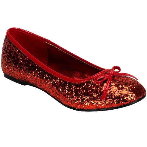 39aec097bd0 Adult Glitter Star Flat Shoes Red Costume   Target