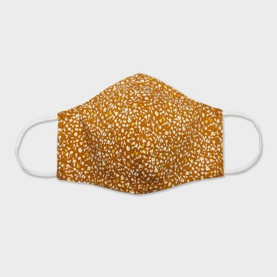 Women's Single Fabric Face Mask - Universal Thread™ Gold Floral L/XL