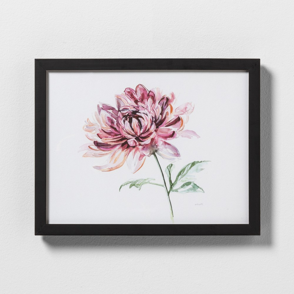 "Image of ""11"""" X 14"""" Pink Flower Wall Art with Black Wood Frame - Hearth & Hand with Magnolia"""