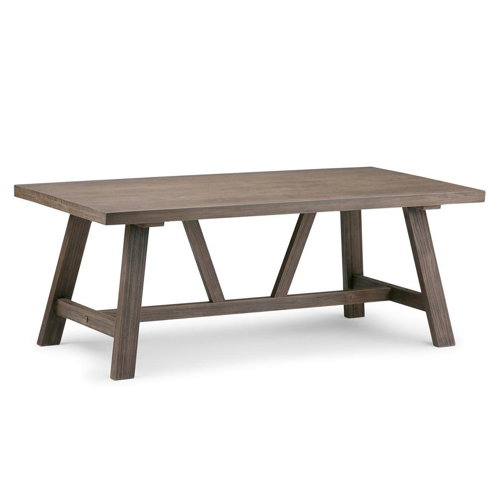 Stewart Solid Wood Coffee Table Driftwood - Wyndenhall, Washed Wood