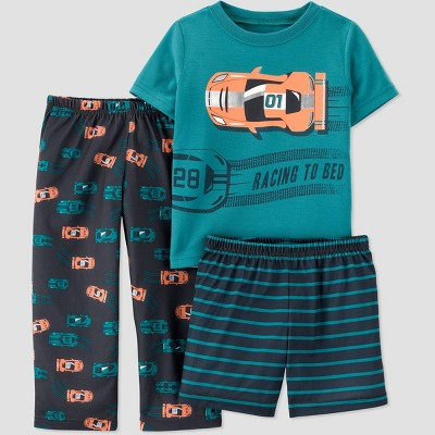 Toddler Boys' 3pc Race Car Pajama Set - Just One You® made by carter's Green