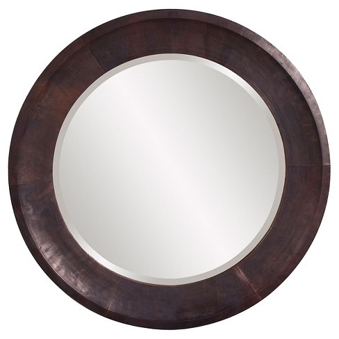 Round Montego Decorative Wall Mirror Brown - Howard Elliott - image 1 of 1