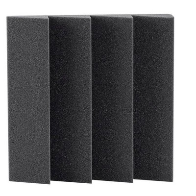 Monoprice Studio Large Wedges Acoustic Foam Panels (12-pack) 2in x 12in x 12in Fire-Retardant, Easy To Install - Stage Right Series