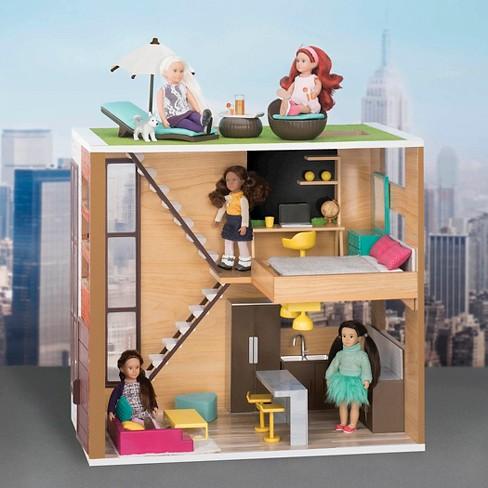 Lori Dolls Loft To Love Dollhouse For 6 Inch Mini Dolls Target