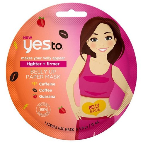 Yes To Tighter + Firmer Belly Up Paper Mask - 1ct/0.5 fl oz - image 1 of 3