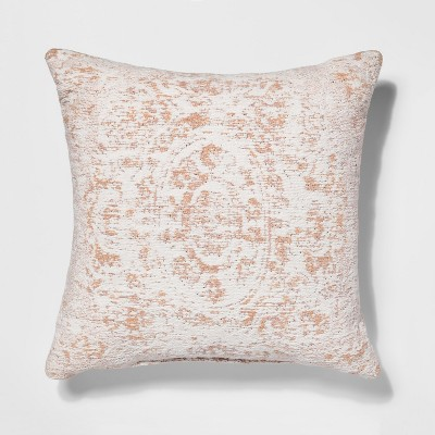 Jacquard Cotton Throw Pillow (18 )- Pink - Threshold™