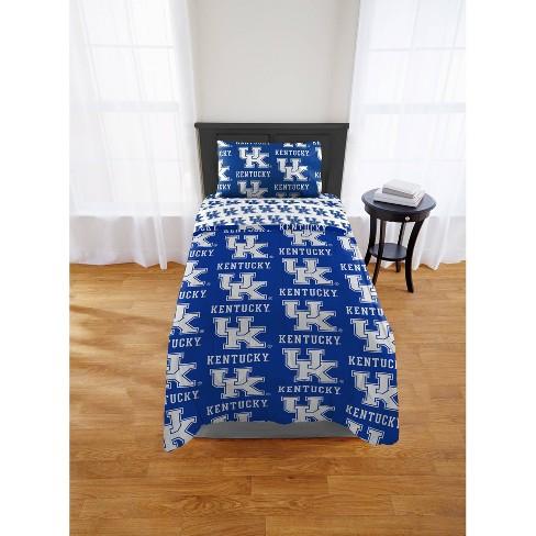 NCAA Kentucky Wildcats Collegiate Blue Twin X-Long Sheet Set