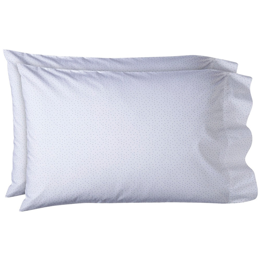 Classic Percale Pillowcase Set (King) Blue Dot 300 Thread Count - Threshold