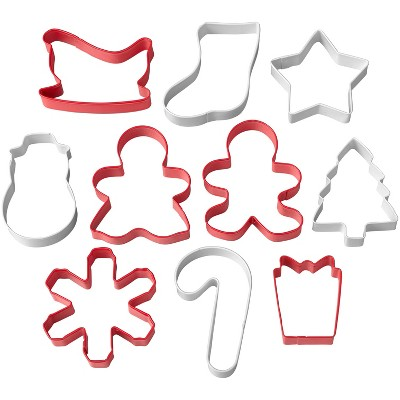 Wilton 10pc Holiday Tube Cookie Cutter Set