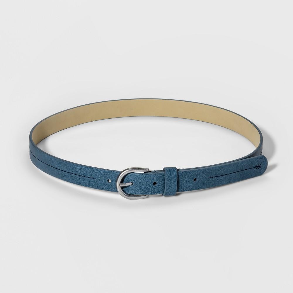 Women's Stitch Detail Belt - Universal Thread Blue XL
