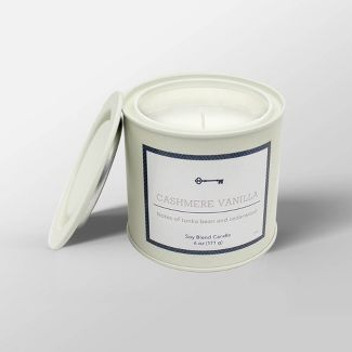 6oz Tin Jar Candle Cashmere Vanilla - Threshold™