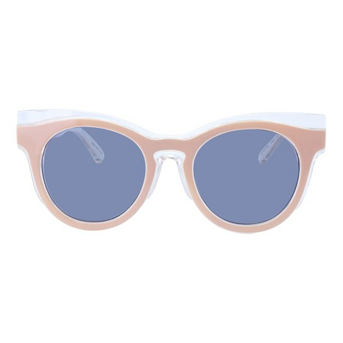 Women's Round Sunglasses with Solid Gray Lens - Pink - image 1 of 2