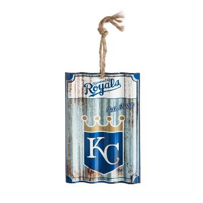Evergreen Kansas City Royals Corrugated Metal Ornament