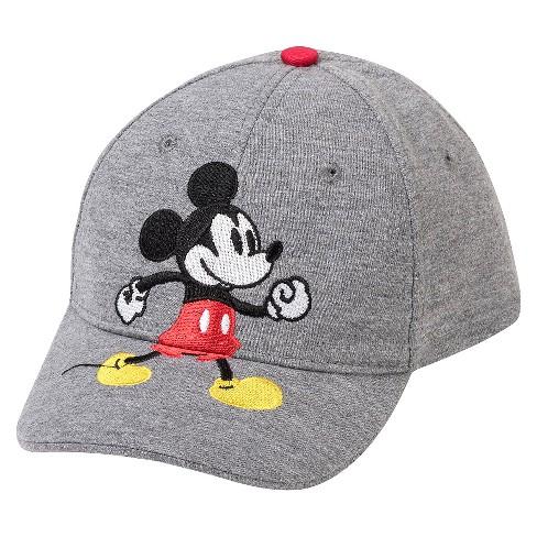 Disney  174  Toddler Boys  Mickey Mouse Baseball Hat - Heather Gray   Target 82fbdefe4