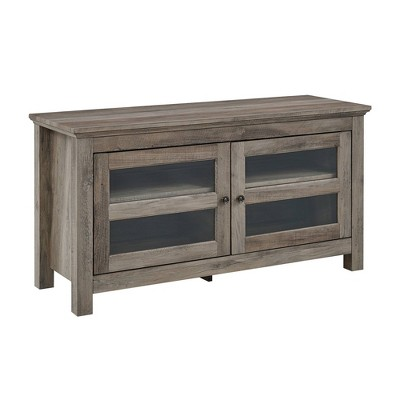"2 Door Wood Storage Console TV Stand for TV's up to 50"" - Saracina Home"