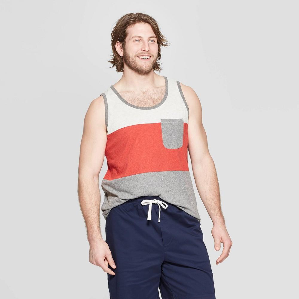 Men's Big & Tall Regular Fit Sleeveless Novelty Pocket Tank - Goodfellow & Co Ripe Red 5XBT